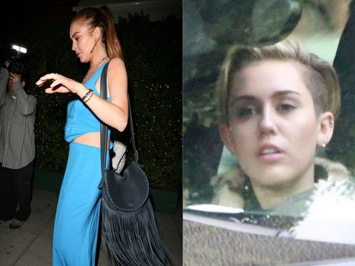 Lindsay Lohan And Miley Cyrus Lovers: Hook Up Together After Drug and Booze Fueled Partying?