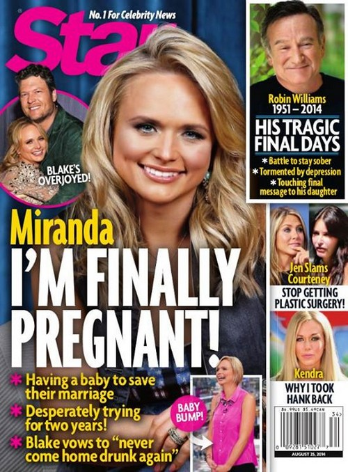 Miranda Lambert Pregnant With First Child - Blake Shelton Wants a Baby? (PHOTO)