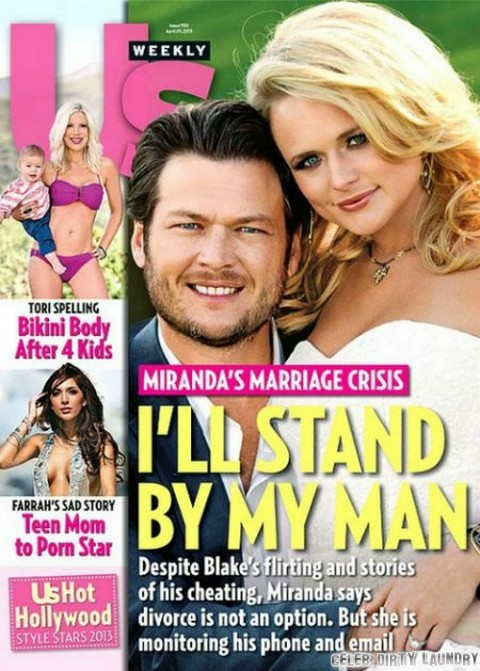 Blake Shelton Admits Cheating and Flirting - Miranda Lambert Won't Let Him Go (Photo)