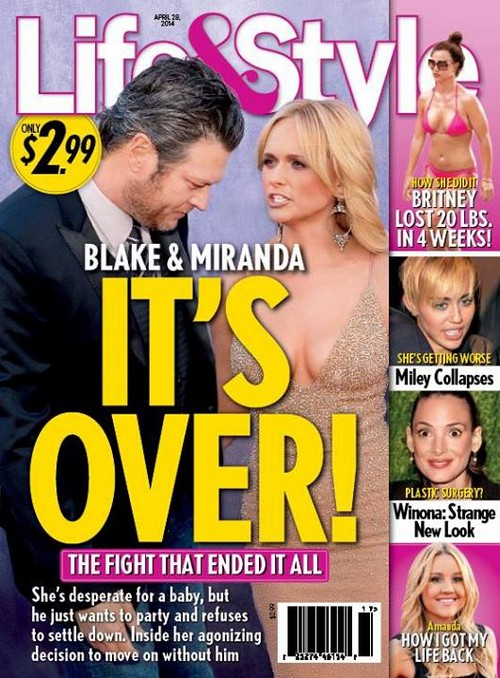 "Blake Shelton and Miranda Lambert Fight and Split Over Baby - Blake Says ""No!"" (PHOTO)"