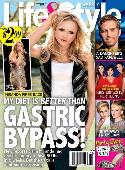 Miranda Lambert Denies Gastric Bypass Surgery Claims For Weight Loss (PHOTO)