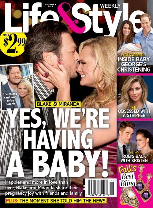 Miranda Lambert Pregnant With Blake Shelton's Baby: Hopes a Child Will Straighten Husband Out - Report (PHOTO)
