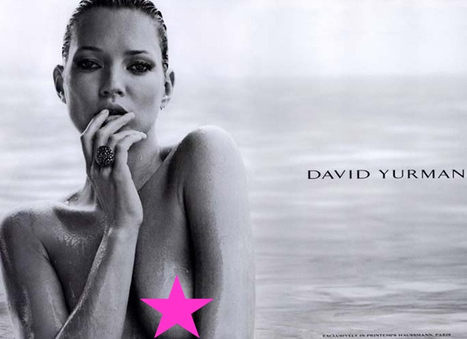 Kate Moss Topless For David Yurman [NSFW]