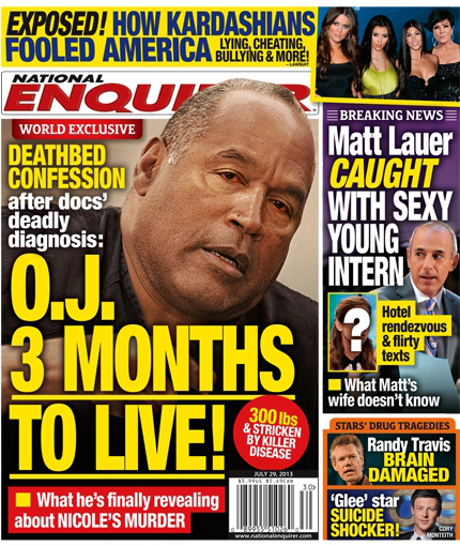 OJ Simpson's Deathbed Confession With Only Three Months to Live? (PHOTO)