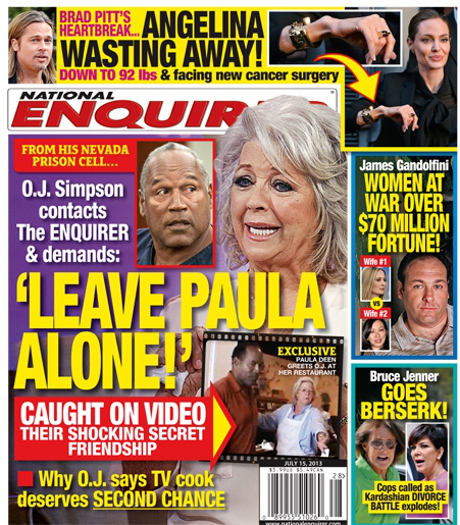 OJ Simpson Adamantly Says Leave Paula Deen Alone! (PHOTO)