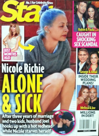 Nicole Richie Is Alone And Anorexic While Husband Joel Madden Hooks Up With Bonnie McKee! (PHOTO)