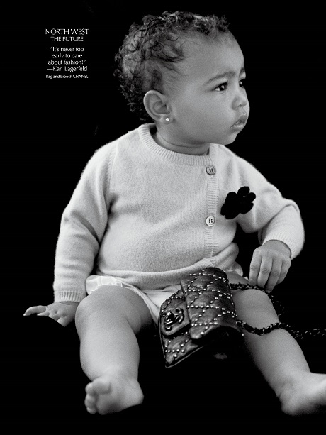 Kim Kardashian Pimping North West Out For Modeling Gigs - Claims 1 Year Old Won't Wear Pink Or Prints (PHOTO)
