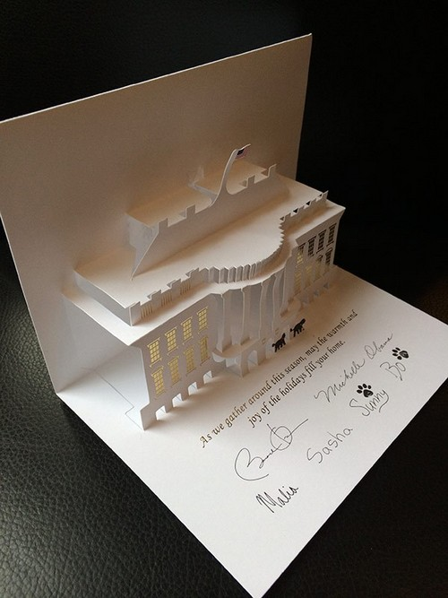 President Barack Obama and Family Christmas Card Photos - Intricate And Detailed
