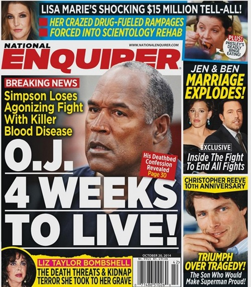 OJ Simpson Four Weeks Left To Live, Dealing With Fatal Blood Disease - Report (PHOTO)