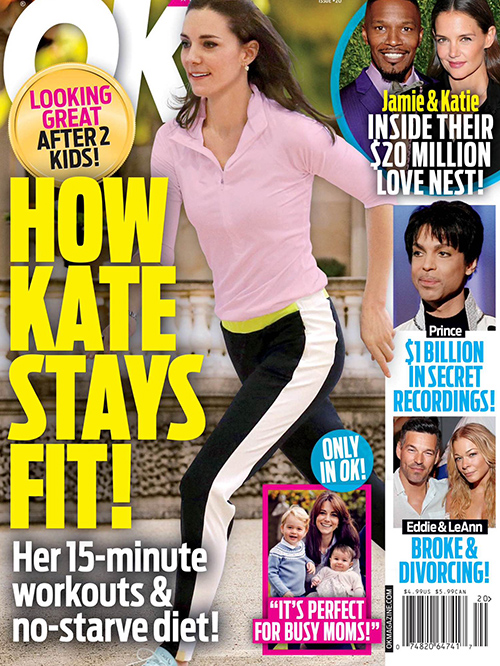 kate middleton diet and exercise obsession prince william