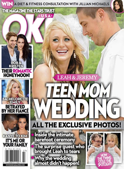 See Exclusive Pictures Of Teen Mom Leah Messner's Wedding! (Photo)