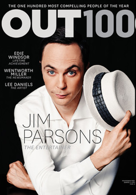 Jim Parsons Lands the Cover of Out Magazine's Out 100 Issue and Named Entertainer of the Year! (PHOTO)