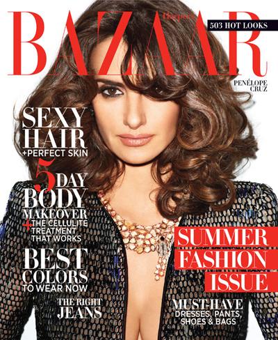 Penelope Cruz Glams It Up On The Cover Of Harper Bazaar