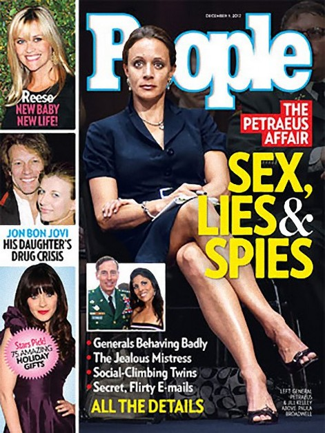 People Magazine Cover: General Petraeus and Mistress Paula Broadwell - Steamy Affair Details