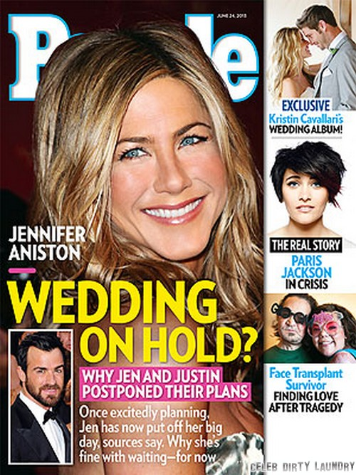 Jennifer Aniston and Justin Theroux Cancel Wedding - Angelina Jolie and Brad Pitt's Summer Marriage Spoils Her Plans (PHOTO)