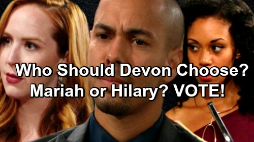 The Young and the Restless Spoilers: Devon and Hilary's Drama Continues – Should He Take Hilary Back or Move on with Mariah?