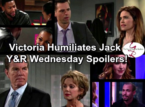 The Young and the Restless Spoilers: Victoria Humiliates Jack – Mariah Wonders About Devon – Jordan Pursues Hilary