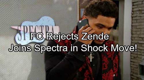 The Bold and the Beautiful Spoilers: Zende Rejected By FC's Design Team - Jumps Ship To Spectra, Joins The Enemy