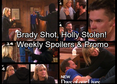 Days of Our Lives Spoilers: Xander Grabs Holly, Shoots Brady – Nicole Panics as Brady Fights for Life