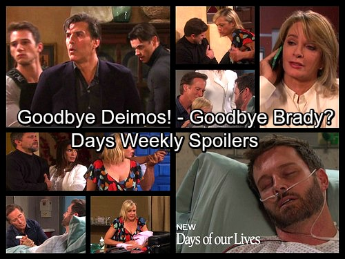 Days of Our Lives Spoilers: Week of May 22 - Deimos Busted, Nicole and Eric Saved – Brady Says Goodbye, Falls Into a Coma
