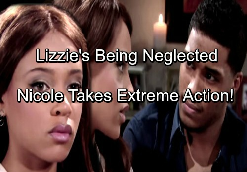 The Bold and the Beautiful Spoilers: Nicole Insists Lizzie Is Being Neglected – Will She Snatch Baby or Sue For Custody?