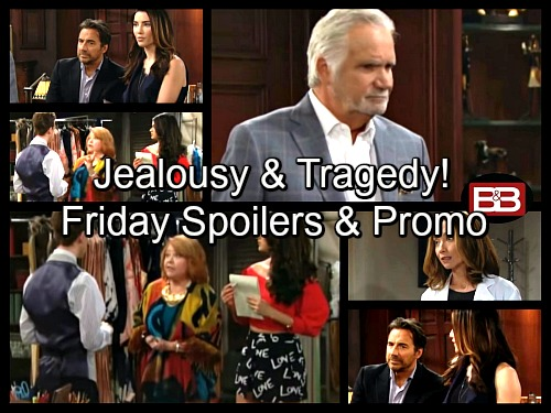 The Bold and the Beautiful Spoilers: Nicole's World Crumbles – Steffy Pushes Ridge to Forgive Thomas – Saul Frets Over Sally