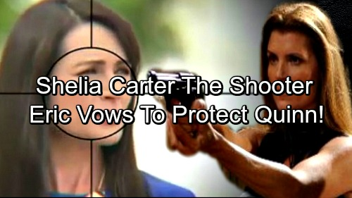 The Bold and the Beautiful Spoilers: Sheila Carter Returns To Kill Quinn - Eric Vows to Protect Wife from Ruthless Enemy