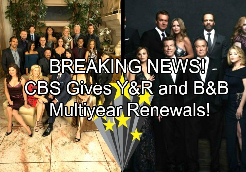The Young and the Restless - The Bold and the Beautiful Spoilers: CBS Renews Y&Rfor 3 Years - B&B for 2017-18!