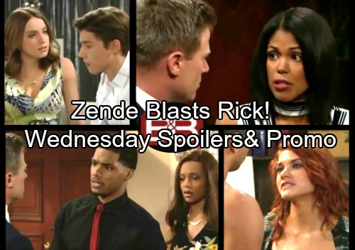The Bold and the Beautiful Spoilers: Zende Gives Rick a Stern Warning, Maya's Fears Grow – Thomas and Sally Heat Up