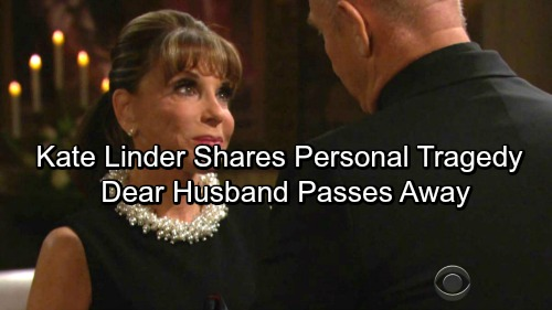 The Young and the Restless Spoilers: Kate Linder Announces Personal Tragedy - Shares Following Death Of Her Husband, Dr Ronald L Linder