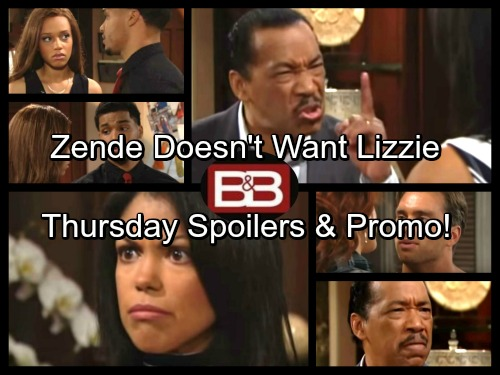 The Bold and the Beautiful Spoilers: Thursday, June 22 - Julius Demands Maya Give Up Lizzie – Zende Doesn't Want Lizzie