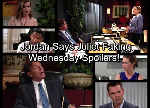 The Young and the Restless Spoilers: Wednesday, June 28 - Jordan Suspects Juliet Faking Illness – Billy Lashes Out at Victoria
