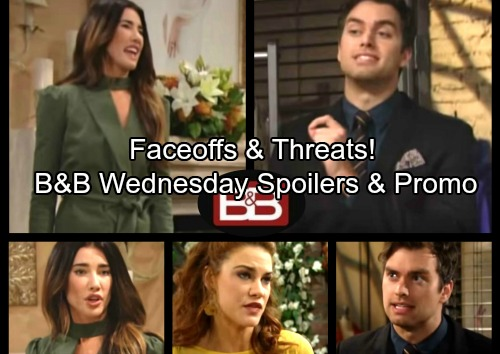 The Bold and the Beautiful Spoilers: Wednesday, July 19 - Sally and Caroline Fight For Thomas – Steffy Explodes at Quinn