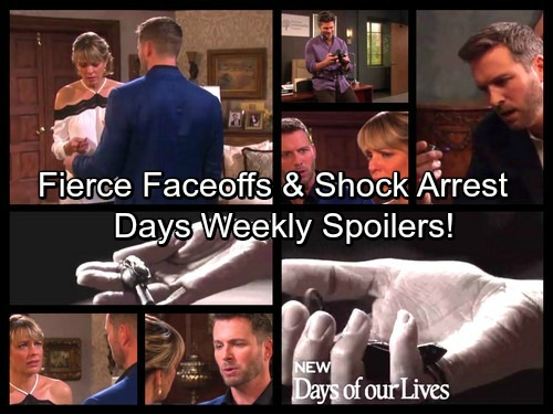 Days of Our Lives Spoilers: Week of August 14 – Fierce Faceoffs, Unraveling Secrets and a Startling Arrest