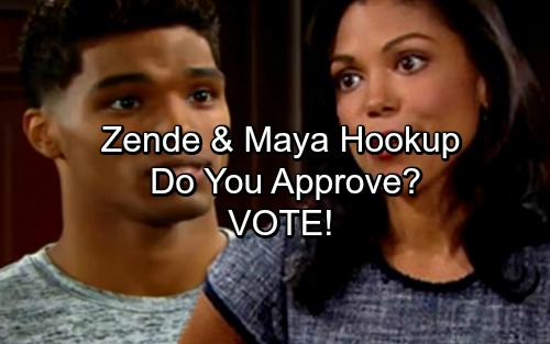 The Bold and the Beautiful Spoilers: Do You Approve of Zende and Maya Hooking Up?