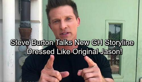 General Hospital Spoilers: Steve Burton Tells Fans About Filming New GH Storyline – Dressed Like Original Jason!