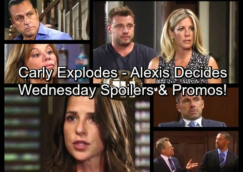 General Hospital Spoilers: Wednesday, August 23 – Sam Spills All, Carly Explodes – Julian Cooked - Alexis Decides