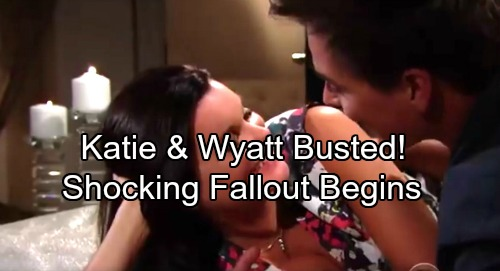 The Bold and the Beautiful Spoilers: Wyatt and Katie's Romance Exposed – Stunned Couple Scrambles From Shocking Fallout