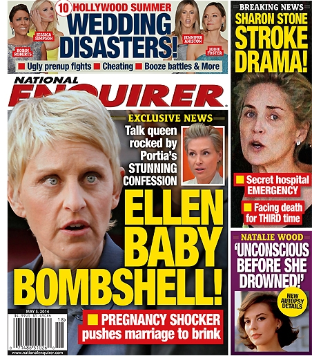 Portia de Rossi Pregnant - Ellen DeGeneres and Portia Fighting Over 'Baby Bombshell' (PHOTO)