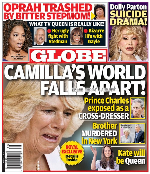 GLOBE: Kate Middleton Picked For Next Queen After Camilla Parker-Bowles Exposes Prince Charles as a Cross-Dresser (PHOTO)