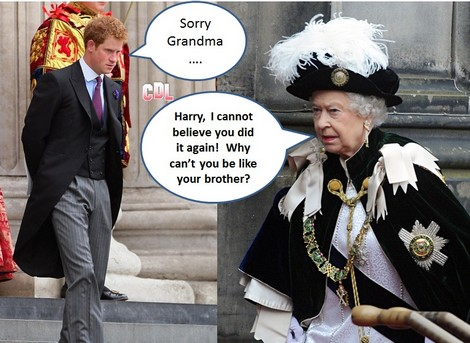 Queen Elizabeth Warns Prince Harry About Behavior At World Cup Soccer in Brazil - No Wild Partying!
