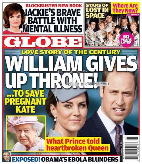 GLOBE: Kate Middleton, Prince William Love Story - Queen Elizabeth Heartbroken as Prince Refuses Throne! (PHOTO)