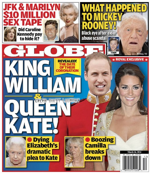 GLOBE: Prince William King and Kate Middleton Queen! Coronation Date Set by Queen Elizabeth as Camilla Parker-Bowles Breaks Down (PHOTO)