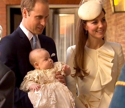 Prince George Christening Picture with Kate Middleton and Prince William: Camilla Parker-Bowles Dreads Baby's Big Day (PHOTO)