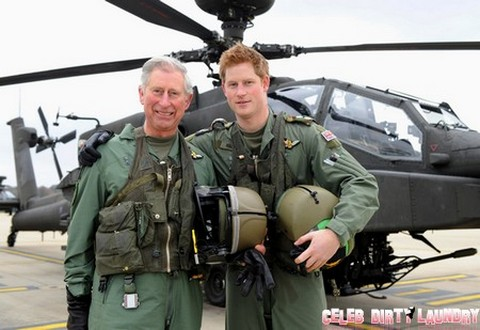Prince of Wales with Son Prince Harry Visit Army Aviation Centre in Middle Wallop