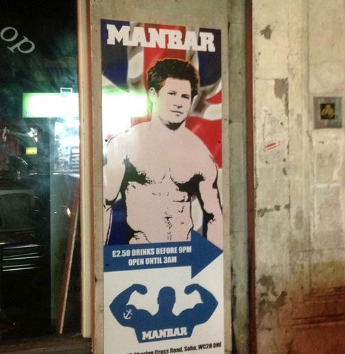 Prince Harry Used To Promote A Gay Bar In London - Manbar Photo