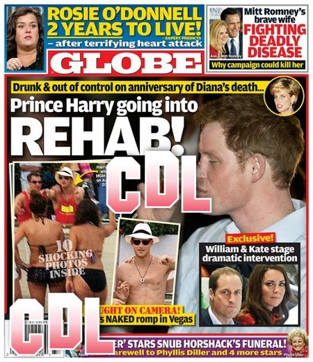 GLOBE: Prince Harry Going Into Rehab – Kate Middleton and Prince William Stage Emergency Intervention