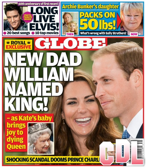 GLOBE: Prince William Named KING - Queen Elizabeth Reacts To Royal Baby!