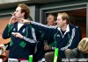 The Princes of Wales cheer on the English rugby team