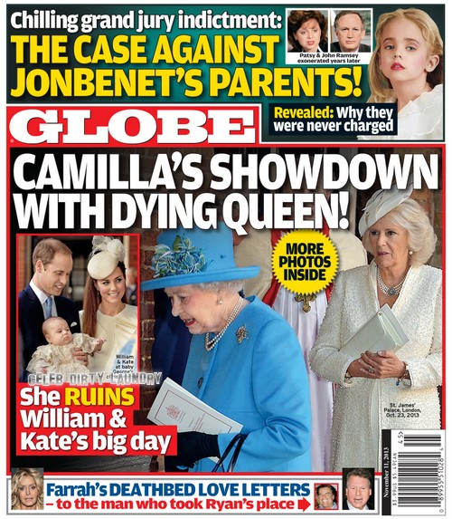 GLOBE: Queen Elizabeth Puts Camilla Parker-Bowles In Her Place After Duchess Ruins Prince George's Christening (PHOTO)